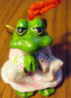 Annette Little 1977 Angel Praying Frog Ornament Rare!