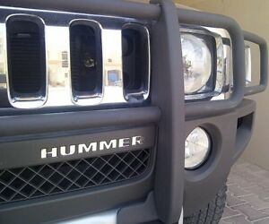 BDTrims | Chrome Front Bumper Letters for Hummer H3 ABS Plastic Inserts