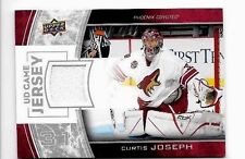 CURTIS JOSEPH 2013-14 UPPER DECK  UD GAME JERSEY GAME WORN JERSEY