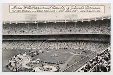 1958 Jehovah's Witnesses Divine Will Int'l Assembly Yankee Stadium NYC Postcard
