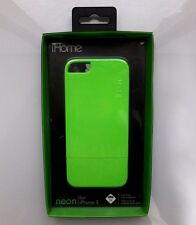 BRAND NEW & SEALED*** iHome Neon-Sider Case for iPhone5/5s - Green (UA15-4/3)