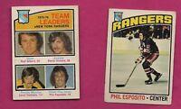 2 X 1976-77 OPC  NY RANGERS PHIL ESPOSITO EX CARD (INV# A7820)