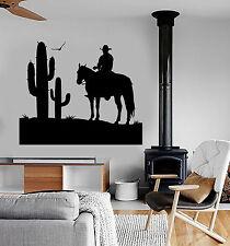 Vinyl Wall Decal Cowboy Wild West Cactus Boy Room Stickers Decor (ig4766)