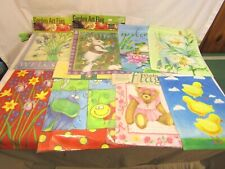 Small Garden Flags Lot of 8 Seasonal Spring! Toland Usa