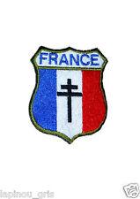 Ecusson patch France DE GAULLE airsoft paintball croix de Lorraine
