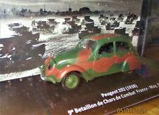 NEW WWII CARS Altaya 1/43 N°5 + PEUGEOT 202 MODÈLES MYTHIQUES DE LA PLUS GRANDE