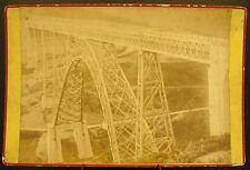 Photo c1900 Pont structure métallique par Gustave Eiffel ? Photographie ancienne