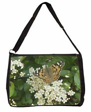Painted Lady Butterfly Large Black Laptop Shoulder Bag School/College, IBU-12SB