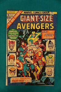 MARVEL COMICS AVENGERS #5 1/75 - VINTAGE (27) BRONZE AGE