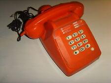 Ancien vintage collection orange 1970-80 téléphone à cadran bouton modifié