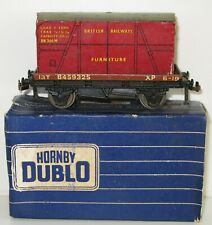 Hornby Dublo OO Gauge 32087 13 Ton Low-Sided Wagon B459325 + Furniture Container