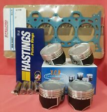 75mm YCP Vitara Pistons LowComp + Rings + FelPro Head Gasket Honda D16 Turbo