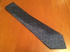 "euc Barrington Men's Blue Geometric Silk Tie Necktie 60"" 3.5"""