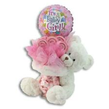 It's a Girl Teddy Bear Balloon Bouquet Gift : Keepsake Baby Birth Announcements