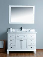 Home Design Express Mickdel Collection White 48 inch bathroom Marble vanity set