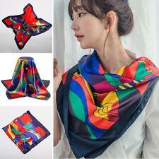 "Red Picasso Paint Scarf Women's Head Print Square Fashion Satin Shawl 35""*35"" SH"