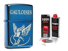 ☆ Zippo ® Feuerzeug Gauloises Blondes | Sapphire Blue Ice & Zubehör L ☆
