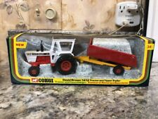Rare NIB 1976 Corgi David Brown 1412 Tractor And Tipper Trailer Set #34