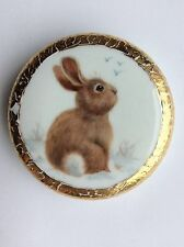 Rabbit Paperweight S Rubies 1994 AR WOCP Convention World Org of China Painters