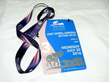 2016 RNC Cleveland General Admission Pass with Lariat GOP Trump Nomination