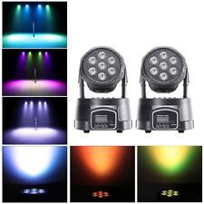 2PCS 105W RGBW Beam LED Moving Head Stage Lighting DMX512 Bar Club Party Light