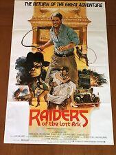 Raiders Of The Lost Ark, Movie Memorablilia, 1982 Re-Release, International 1Sh
