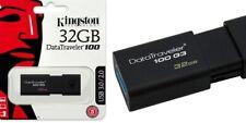 PENDRIVE DE 32 GB KINGSTON MEMORIA USB PEN DRIVE PINCHO 2.0 DATA TRAVELER 100 G3