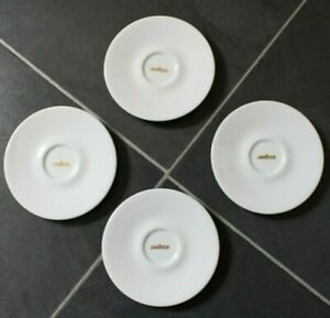 Vintage Lavazza Espresso Saucers Set of 4 Made In Italy by IPA Gold LAVAZZA Logo