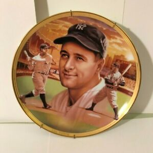 Lou Gehrig Limited Edition Collector Plate Baseball Record Breaker ca 1996