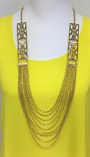 Towne & Reese Niall Layered Gold-Tone Long Chains Necklace