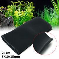 Black Biological Cotton Filter Sock Foam Aquarium Fish Tank Sponge   A Y UK