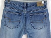American Eagle Women's Size 2 Petites Medium Wash Low Rise Flare Denim Jeans