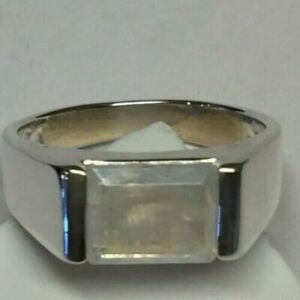 Natural Moonstone Gemstone with 925 Sterling Silver  Ring For Men's