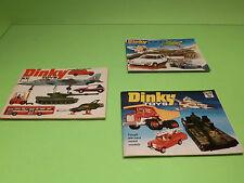 DINKY TOYS  3x CATALOG CATALOGUE KATALOG - 9 + 10+ 14 - GOOD CONDITION