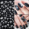 Nail Art 3D Nail Stickers  Flower Nail Art Decals Sheet Tips DIY Decors