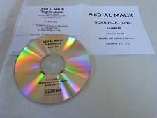 ABD AL MALIK - DANIEL DARC - SCARIFICATIONS!!!! FRENCH CD !!!!!!!!!!