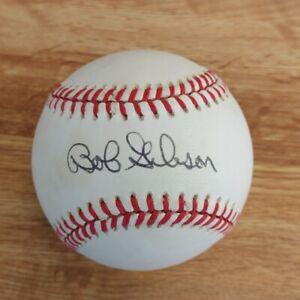 BOB GIBSON Auto/Autographed/Signed Baseball RONLB St. Louis Cardinals