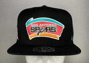 Mitchell and Ness NBA San Antonio Spurs HWC High Crown Fitted Hat, Cap, New