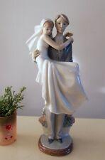 Lladro Over The Threshold Groom Carrying Bride Wedding Figurine 5282