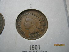USA 1901 bronze Indian Head One Cent Coin