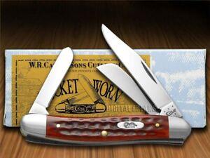 Case xx Stockman Knife Pocket Worn Jigged Old Red Bone Handle 00786
