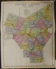 New York, New Century Atlas, 1912 Oneida County, Authentic U1#30
