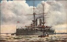 TUCK Our Ironclads British Naval Ship HMS Ramillies c1910 Postcard
