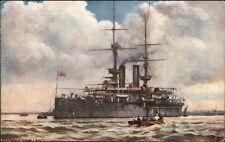TUCK Our Ironclads British Naval Ship HMS Ramillies c1910 Postcard