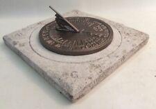 Vintage Hand Carved Sandstone Sundial
