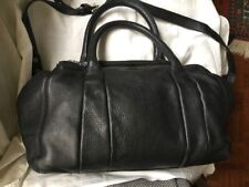 Bolso Negro Zara.  Piel 42x26