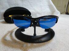 6fc241a3edb9 OAKLEY Half Jacket 1.0 Sunglasses Fire Red Gold Blue Mirrored Lenses Black  Frame