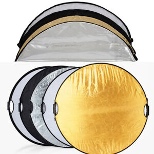 60/80/110cm 5in1 Photography Studio Light Mulit Collapsible Disc Light Reflector