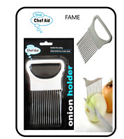Onion Holder Chef Aid Hand Held Easy Slicer Cutter Potato Slices Kitchen Tool SS