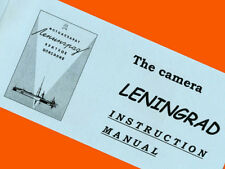 ENGLISH MANUAL for Russian LENINGRAD camera motor-drive LOMO BOOKLET INSTRUCTION